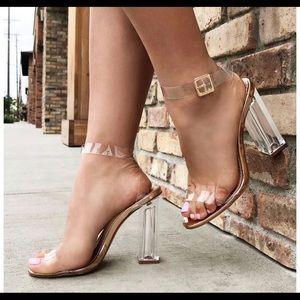 Fashion nova the glass slipper heels